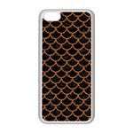 SCALES1 BLACK MARBLE & RUSTED METAL (R) Apple iPhone 5C Seamless Case (White) Front