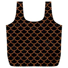 Scales1 Black Marble & Rusted Metal (r) Full Print Recycle Bags (l)  by trendistuff