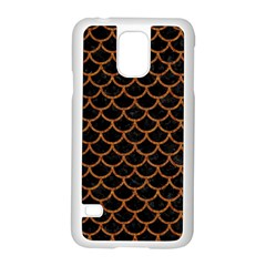 Scales1 Black Marble & Rusted Metal (r) Samsung Galaxy S5 Case (white) by trendistuff