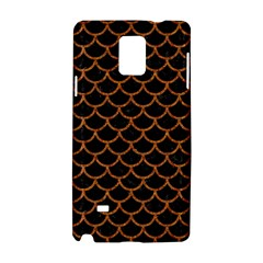 Scales1 Black Marble & Rusted Metal (r) Samsung Galaxy Note 4 Hardshell Case by trendistuff