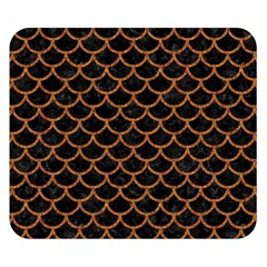 Scales1 Black Marble & Rusted Metal (r) Double Sided Flano Blanket (small)  by trendistuff