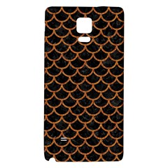Scales1 Black Marble & Rusted Metal (r) Galaxy Note 4 Back Case by trendistuff