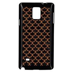 Scales1 Black Marble & Rusted Metal (r) Samsung Galaxy Note 4 Case (black) by trendistuff