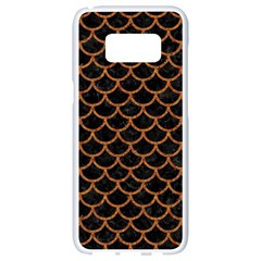 Scales1 Black Marble & Rusted Metal (r) Samsung Galaxy S8 White Seamless Case by trendistuff