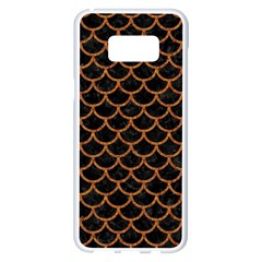 Scales1 Black Marble & Rusted Metal (r) Samsung Galaxy S8 Plus White Seamless Case by trendistuff
