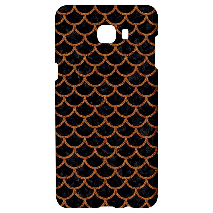 SCALES1 BLACK MARBLE & RUSTED METAL (R) Samsung C9 Pro Hardshell Case
