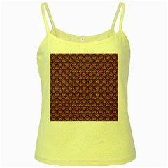 Scales2 Black Marble & Rusted Metal Yellow Spaghetti Tank by trendistuff