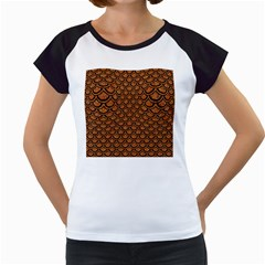 Scales2 Black Marble & Rusted Metal Women s Cap Sleeve T