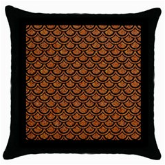 Scales2 Black Marble & Rusted Metal Throw Pillow Case (black) by trendistuff