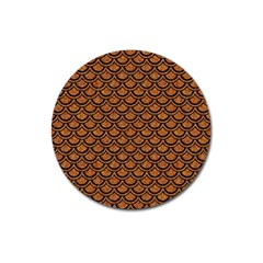 SCALES2 BLACK MARBLE & RUSTED METAL Magnet 3  (Round)