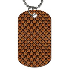 SCALES2 BLACK MARBLE & RUSTED METAL Dog Tag (One Side)