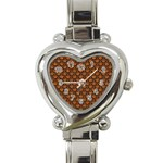 SCALES2 BLACK MARBLE & RUSTED METAL Heart Italian Charm Watch Front