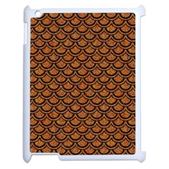 SCALES2 BLACK MARBLE & RUSTED METAL Apple iPad 2 Case (White)