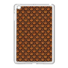 SCALES2 BLACK MARBLE & RUSTED METAL Apple iPad Mini Case (White)