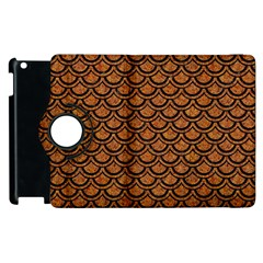 SCALES2 BLACK MARBLE & RUSTED METAL Apple iPad 3/4 Flip 360 Case