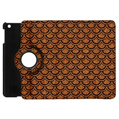 SCALES2 BLACK MARBLE & RUSTED METAL Apple iPad Mini Flip 360 Case