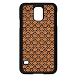 SCALES2 BLACK MARBLE & RUSTED METAL Samsung Galaxy S5 Case (Black) Front