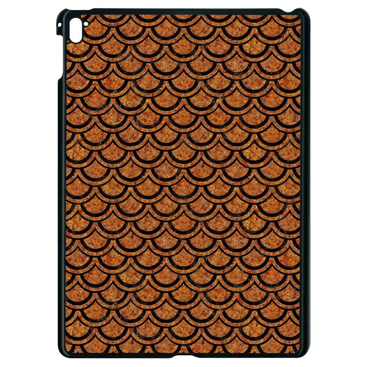 SCALES2 BLACK MARBLE & RUSTED METAL Apple iPad Pro 9.7   Black Seamless Case