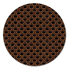 SCALES2 BLACK MARBLE & RUSTED METAL (R) Magnet 5  (Round)