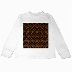 SCALES2 BLACK MARBLE & RUSTED METAL (R) Kids Long Sleeve T-Shirts