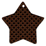 SCALES2 BLACK MARBLE & RUSTED METAL (R) Star Ornament (Two Sides) Front