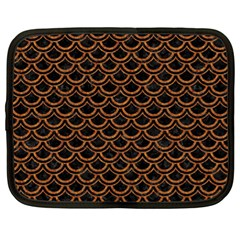 SCALES2 BLACK MARBLE & RUSTED METAL (R) Netbook Case (XL)