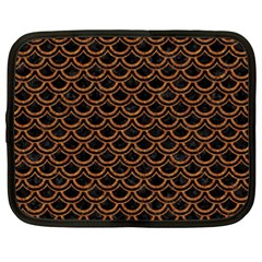 SCALES2 BLACK MARBLE & RUSTED METAL (R) Netbook Case (XXL)