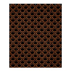 Scales2 Black Marble & Rusted Metal (r) Shower Curtain 60  X 72  (medium)  by trendistuff