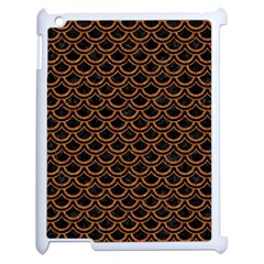 SCALES2 BLACK MARBLE & RUSTED METAL (R) Apple iPad 2 Case (White)