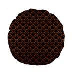 SCALES2 BLACK MARBLE & RUSTED METAL (R) Standard 15  Premium Round Cushions Front