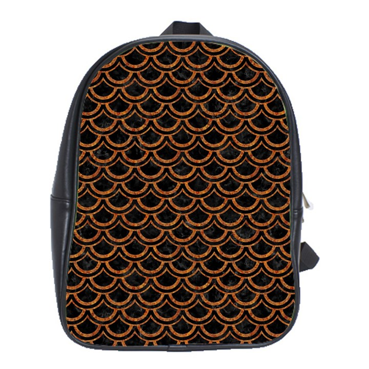 SCALES2 BLACK MARBLE & RUSTED METAL (R) School Bag (XL)