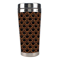 Scales2 Black Marble & Rusted Metal (r) Stainless Steel Travel Tumblers by trendistuff