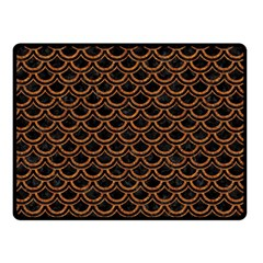 SCALES2 BLACK MARBLE & RUSTED METAL (R) Double Sided Fleece Blanket (Small)