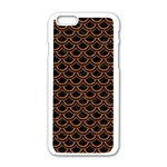 SCALES2 BLACK MARBLE & RUSTED METAL (R) Apple iPhone 6/6S White Enamel Case Front