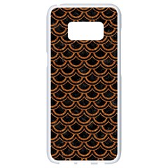 SCALES2 BLACK MARBLE & RUSTED METAL (R) Samsung Galaxy S8 White Seamless Case