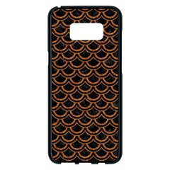 SCALES2 BLACK MARBLE & RUSTED METAL (R) Samsung Galaxy S8 Plus Black Seamless Case