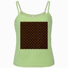Scales3 Black Marble & Rusted Metal Green Spaghetti Tank by trendistuff