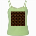 SCALES3 BLACK MARBLE & RUSTED METAL Green Spaghetti Tank Front