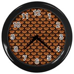 SCALES3 BLACK MARBLE & RUSTED METAL Wall Clocks (Black) Front
