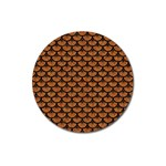 SCALES3 BLACK MARBLE & RUSTED METAL Magnet 3  (Round) Front