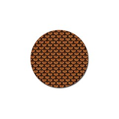 SCALES3 BLACK MARBLE & RUSTED METAL Golf Ball Marker (4 pack)