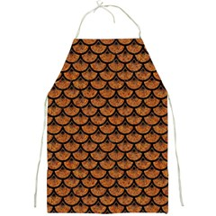 SCALES3 BLACK MARBLE & RUSTED METAL Full Print Aprons