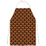 SCALES3 BLACK MARBLE & RUSTED METAL Full Print Aprons Front