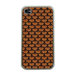 Scales3 Black Marble & Rusted Metal Apple Iphone 4 Case (clear) by trendistuff