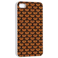 Scales3 Black Marble & Rusted Metal Apple Iphone 4/4s Seamless Case (white) by trendistuff