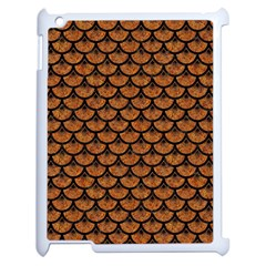 SCALES3 BLACK MARBLE & RUSTED METAL Apple iPad 2 Case (White)