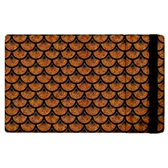 Scales3 Black Marble & Rusted Metal Apple Ipad 2 Flip Case by trendistuff