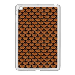 Scales3 Black Marble & Rusted Metal Apple Ipad Mini Case (white) by trendistuff