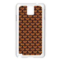 Scales3 Black Marble & Rusted Metal Samsung Galaxy Note 3 N9005 Case (white) by trendistuff