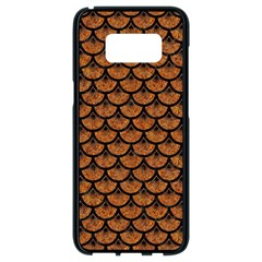 SCALES3 BLACK MARBLE & RUSTED METAL Samsung Galaxy S8 Black Seamless Case